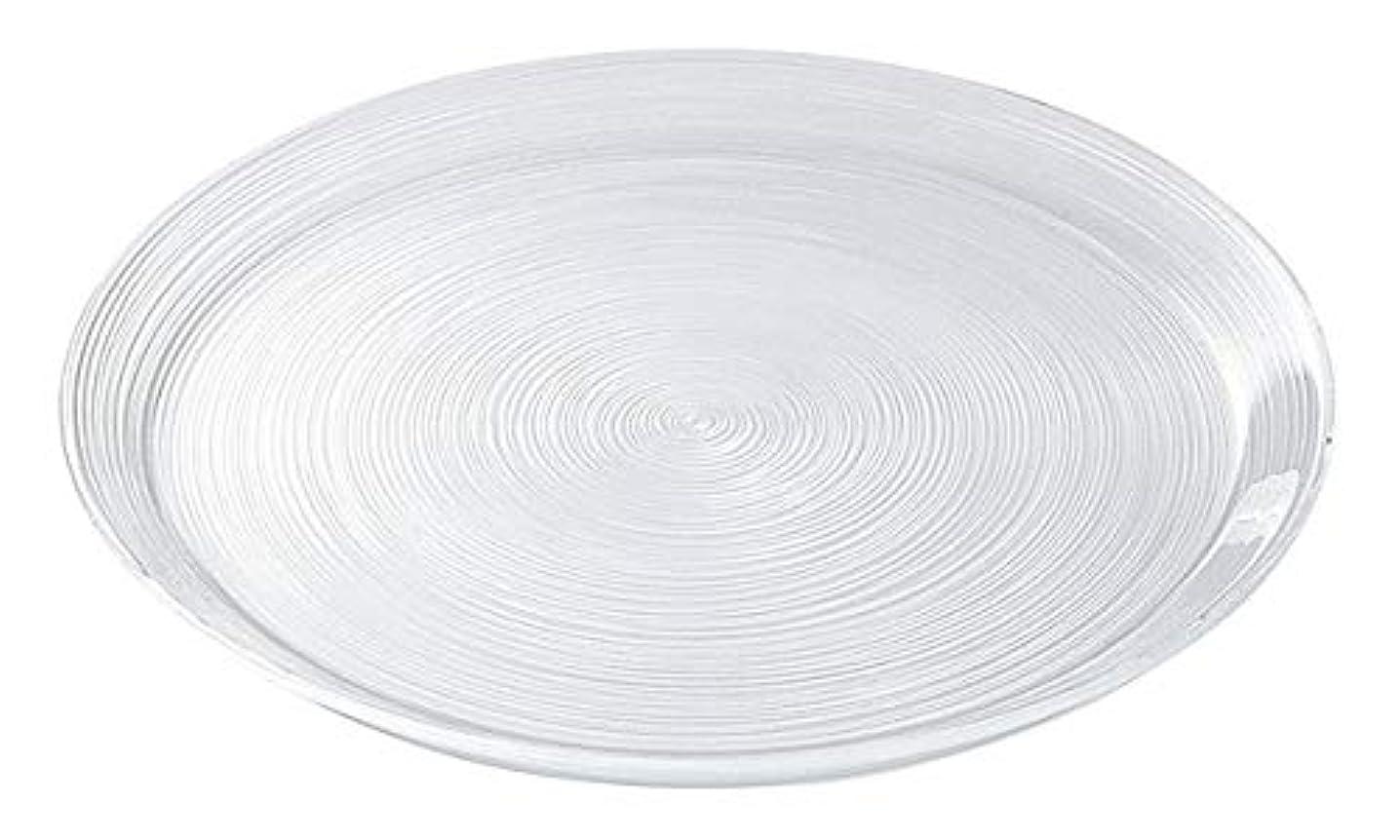 なめる高架小説細いラインが美しいガラス食器 イマージュ プレート27.5cm[プレート / 大皿]