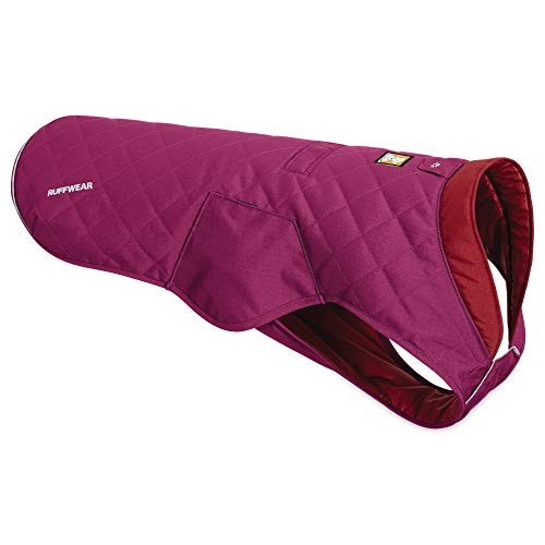 RUFFWEAR, Stumptown Insulated, Reflective Cold Weather Jacket for Dogs, Larkspur Purple, Small