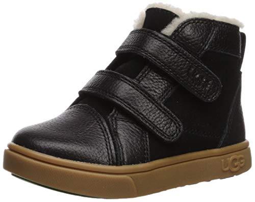 UGG unisex child Rennon Ii Sneaker, Black, 11 Little Kid US