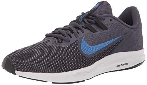 Nike Herren Downshifter 9 Laufschuhe, Blau (Gridiron/Mountain Blue-Black 011), 44.5 EU