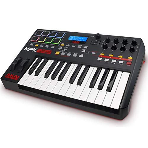 Akai Professional MPK225 | Compact 25-Key Semi-Weighted USB MIDI Keyboard Controller Including Core Control From The MPC Workstations (Renewed)