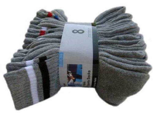 Star Socks Germany 16 Paar Marken Sportsocken - in 6 Farben Verfügbar / 39-42/43-46, 39/42, Grau