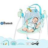 Hamaca para Bebes, Eléctrica Mecedora para Bebés,Balancín Columpio Hamaca Plegado Con mosquitera/Bluetooth models/C