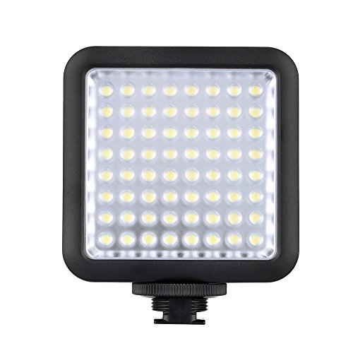 Fotga 64 LED Camera Video Luce del Flash Per Canon Nikon DSLR 5500-6500K Controllo della Luminosità
