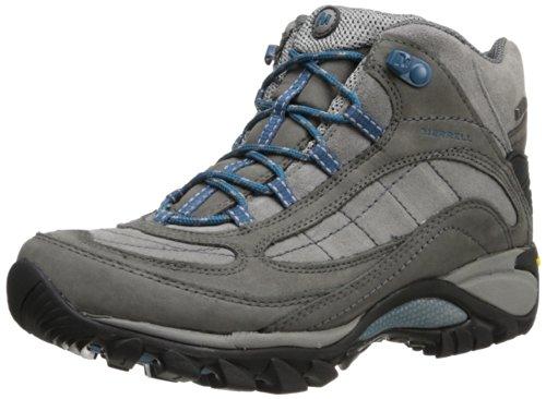 Merrell Women's Siren Waterproof Mid Hiking Boot,Castle Rock/Blue,7 M US
