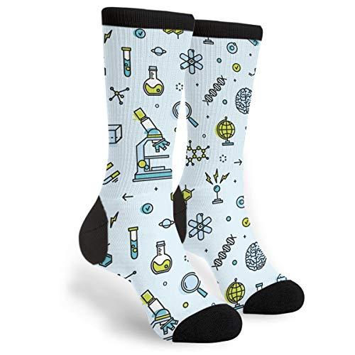 Scientific Laboratory Unisex Novelty Crew Socks Casual Funny Crazy Dress Socks Gift