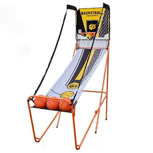 JJLL Dual Shot Basketball-Arcade-Spiel, Erwachsene Basketball Arcade Game Indoor/Outdoor Elektronische Einzel Punktzahl Einsetzanlage Faltbare, nahe 100% Punkten Genauigkeit (Size : B)