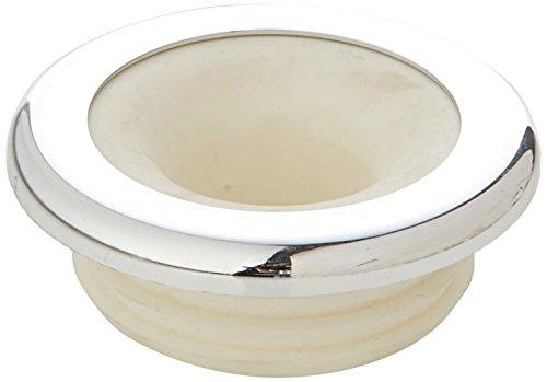 Sanicomfort - connettore per il tubo di scarico del WC da 28mm con rosone cromato, 1895044