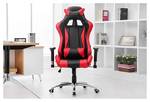 XXY Silla de Oficina roja y Negra Silla de Juego Asientos de Carreras Silla de computadora