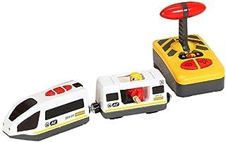 comprar comparacion TOOGOO Tren EléCtrico de Control Remoto Compatible con el Juguete de Madera de la VíA del Tren