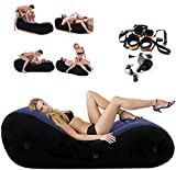 Foldable Carry Easily Ŝëx Furniture with Bondaged HándcÛff & Electric Inflatable Pump Kit Couches Sofas Air Mattress Së&x Sofa Flocking Bed for Cőúplěs Deeper Position Support
