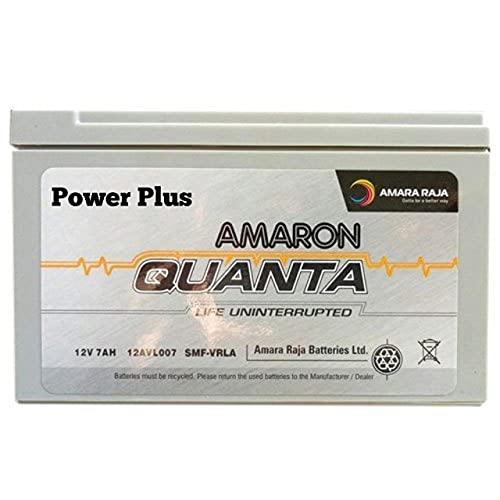 amaron quanta 12V 7Ah SMF UPS-Emergency Battery Ideal for Use in UPS/Solar and More Instruments (VRLA 12-07/ 12V, 7AH C20)