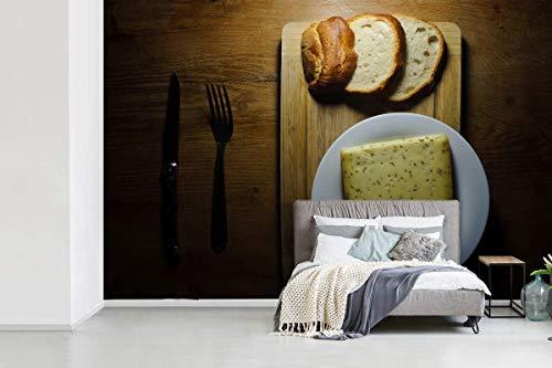 Fotobehang vinyl Gouda - Gouda kaas met komijn fotobehang breedte 360 cm x hoogte 240 cm - Foto print op behang (in 7 formaten beschikbaar)