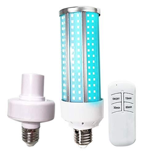 Camisin 60W UV Ozono Germicida Luz UVC LáMpara de MaíZ Bombilla E27 LED Luz de DesinfeccióN 110V LáMpara de Control Remoto