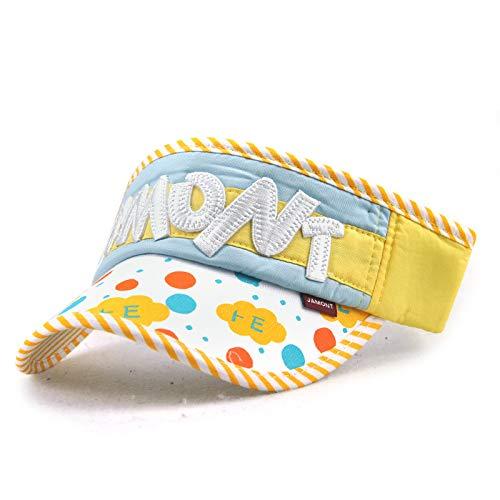Protector Solar Sombrero de Copa vacío Sombrero de Corona de Sol niños sin Sombrero de Sol Superior niños y niñas algodón