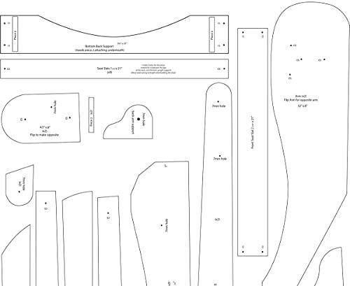 Furniture Alfresco Adirondack Folding Chair Blueprints/Plans
