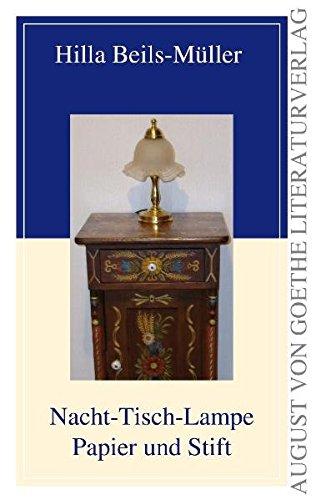 Nacht-Tisch-Lampe Papier und Stift (August von Goethe Literaturverlag)