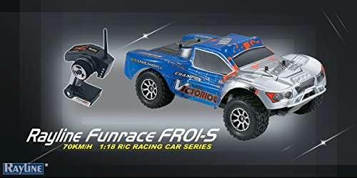 efaso WL Toys A969-B / Rayline Funrace FR01S-D - schneller Rally Street Racer 70 km/h schnell, wendig, voll digital proportional - 2.4 GHz RC Auto mit Allradantrieb - Maßstab 1:18, hoher Fun Faktor