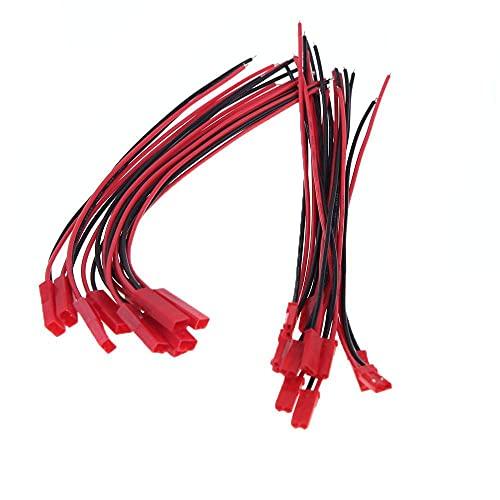 LIZONGFQ Enchufe Universal RC Parte 10 Pares Enchufe Conector JST de 150 mm para Parte de batería RC Lipo