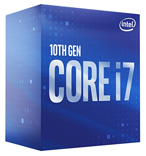 Intel Core i7-10700 Desktop-Prozessor 8 Kerne bis zu 4,8 GHz LGA 1200 (Intel 400 Series Chipsatz) 65 W, BX8070110700