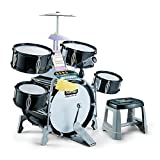 FenglinTech Jazz Drum Set with Sound and Light, 23PCS Drum Kit Toys with Microphone for Beginner Boys and Girls