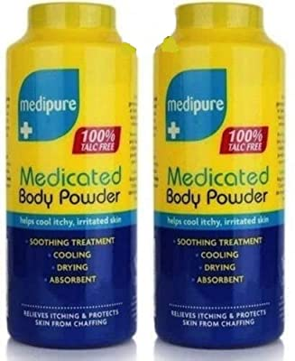 Dpny 2 Medipure Medicated Body Powder 100% Talc Free Helps Cool Itchy, Irritated Skin by DPNY