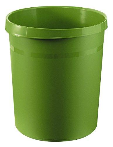 HAN Papierkorb GRIP, 18 Liter, mit 2 Griffmulden, extra stabil, rund, grün
