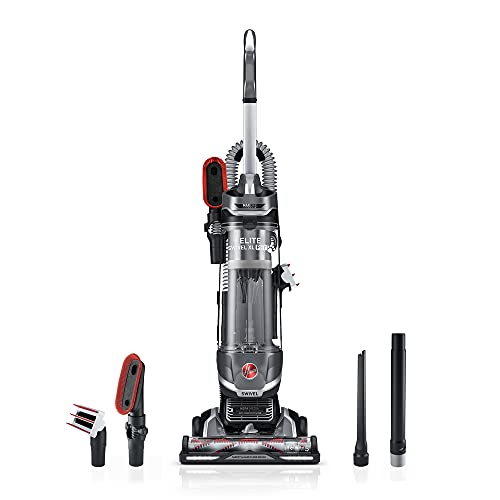 Hoover MAXLife Elite Swivel XL Pet Vacuum Cleaner with HEPA Media Filtration, Bagless Upright for Carpets and Hard Floors, Grey, UH75250