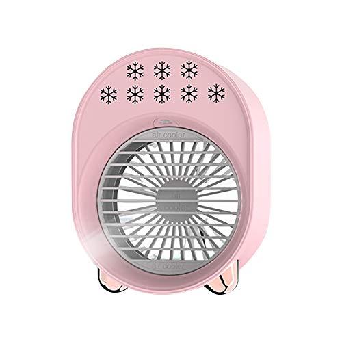 Lomelomme Climatizador portátil, enfriador de aire, mini enfriador de aire portátil, USB, Rosa., Talla única