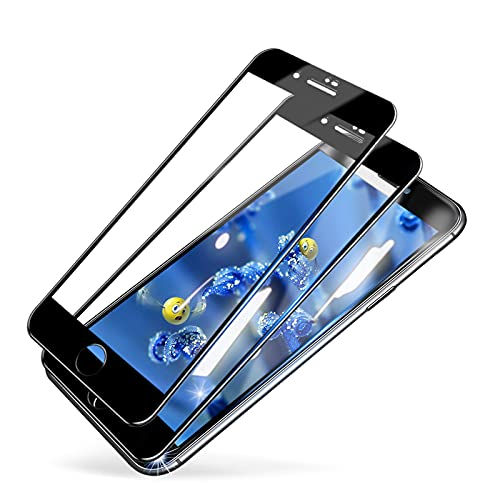 MINIKA iPhone8プラス ガラスフィルム 全面保護 iPhone7plus 専用 フィルム アイフォン8plus 保護フィルム あいふおん7プラス ガラス iphone8plus 液晶フィルム 画面 保護シート 浮きなし/秒で貼り付け/98%透過率で/指紋軽減/7plus 用 フィルム