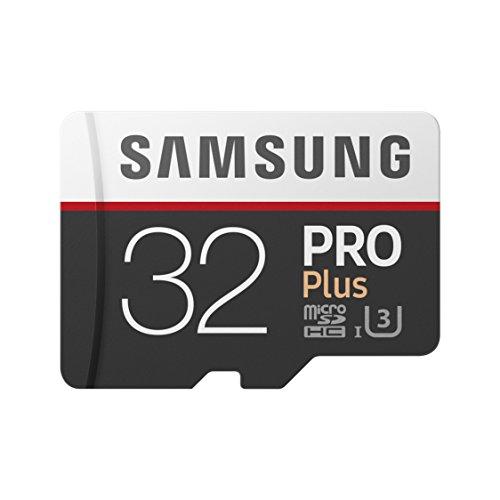 Samsung PRO Plus Micro SDHC 32GB bis zu 100MB/s, Class 10 U3 Speicherkarte (inkl. SD Adapter)