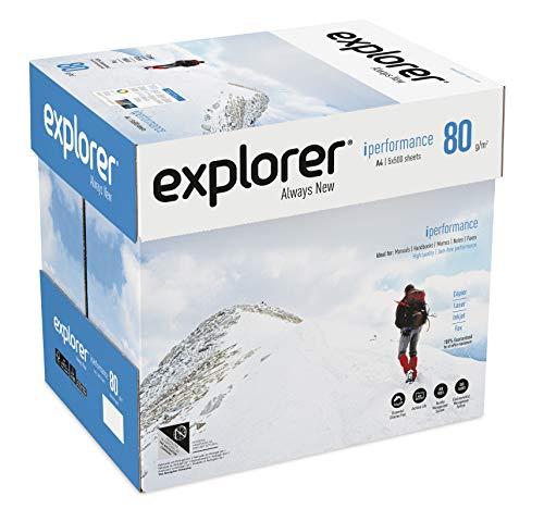 EXPLORER - Papel blanco multiusos para impresora - A4 80gr - 5 paquetes - 2500 folios