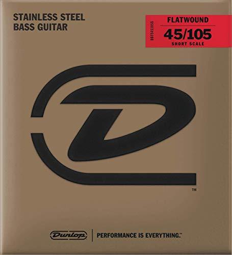 Jim Dunlop Flatwound Short Scale 45/105 Medium 4/SET Bass Guitar Strings (DBFS45105S)