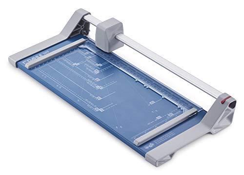 Dahle 507 Schneidemaschine Modell 2020 (8 Blatt Schneidleistung, bis DIN A4) blau