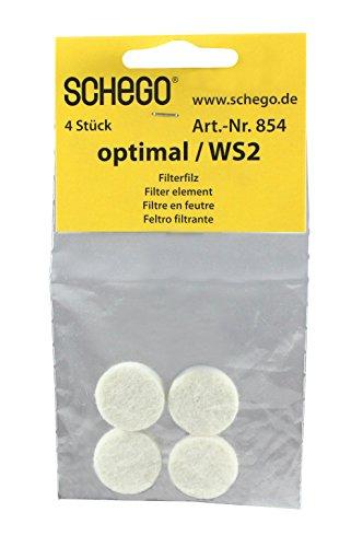 Schego 854 optimal / WS2-Ersatzfilterfilze, 4 Stück