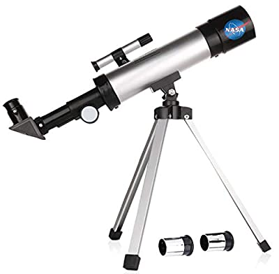 Smurfect Nasa Lunar Telescope for Kids Capable of 90x Magnification, Includes 2 Eyepieces - Portable & Easy To Use Lightweight Portable Telescope