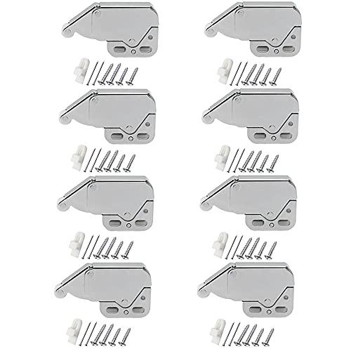 Dtoterul 8 Piezas Cerradura Gabinete Armario Cierres Muelles Pestillo de Empuje para Gabinetes de Oficina Puertas Armario Puerta Gabinete Cierre a Presión Resorte Captura con Tornillos Latch Armario