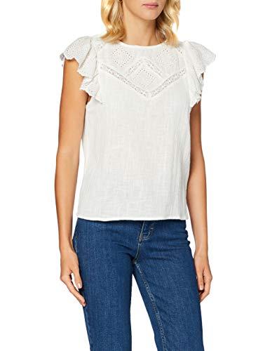 Pimkie Damen Seasonal Bluse PHS20 SROULY, weiß, 44 (Herstellergröße: 44)