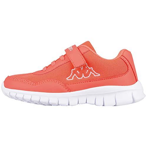 Kappa Mädchen Follow Kids Sneaker, Rot (2910 Coral/White), 25 EU