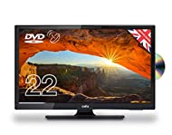 """Cello 22"""" Full HD LED TV/DVD Freeview HD and Satellite Receiver- Manufactured in the UK, Black"""