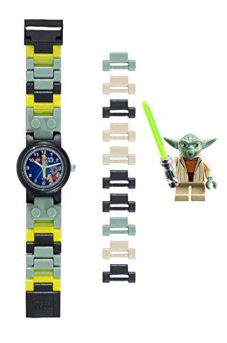 Reloj infantil modificable de LEGO Star Wars. Incluye las conocidas figuritas de LEGO Yoda.