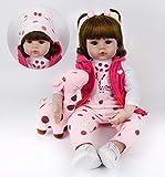 ZIYIUI DOLL 24 Pouces 60 cm Realiste Reborn Baby Dolls Real Look Bébé Filles Doux Silicone Vinyle Reborn Toddler Bébé Poupée Réaliste À La Recherche à La Recherche Nouveau-Né Poupées Bébé Fille