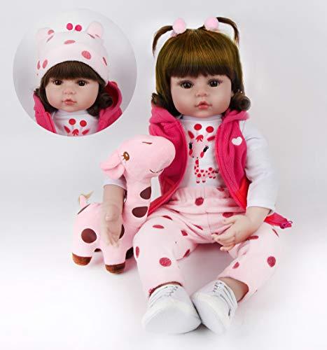 ZIYIUI DOLL 24 Pulgadas /60 Cm Realista Reborn Muñecas Vinilo Suave Silicona Reborn Baby Dolls Hecho A Mano Encantador Reborn Muñecas Regalo Juguetes