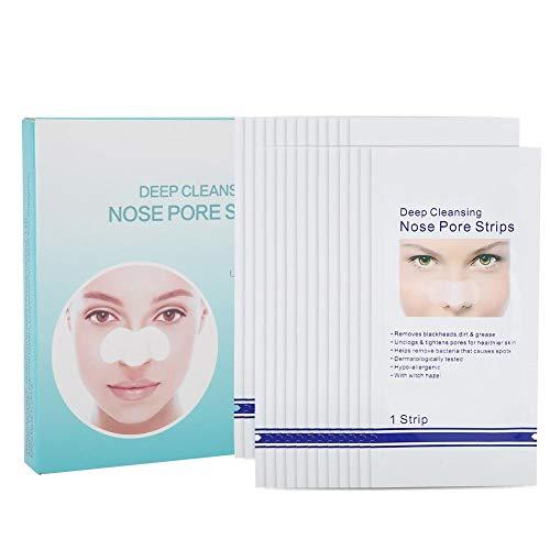 Cerotti per Punti Neri 24pcs Pulizia profonda Strisce di pori Maschera di rimozione dell'acne comedone Cura della pelle Maschera del naso staccabile