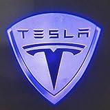 Womdee Tesla Model 3/S/X LED Einstiegsbeleuchtung Tür Licht Logo Projektor Licht, Logo Leuchten, Tesla Model 3 Zubehör