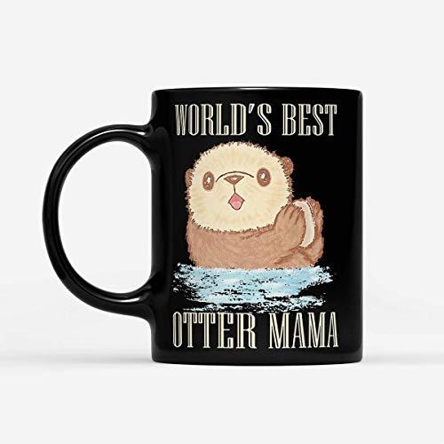 World's Best Otter Mama - Black Mug