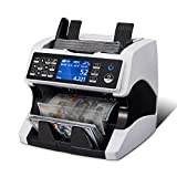 MUNBYN IMC01 Money Counter Machine Mixed Denomination Bill Counter, Total Value Serial Number Multi Currency 2 CIS/UV/MG/MT/IR Counterfeit Detection Cash Counter Bill Recognize for Small Business Bank
