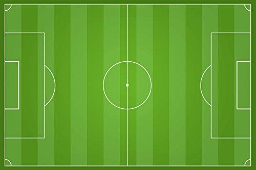 Tortenaufleger Fußballfeld 16x25cm