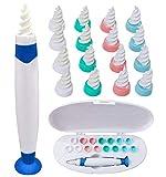 Limpiador de Oídos azul, Q Grips Limpia Oídos con Ventosa Kit de herramientas para limpieza de oídos...