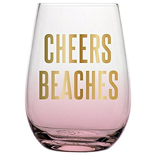 wine cup for beaches 20oz Stemless Wine Glass - Cheers Beaches.